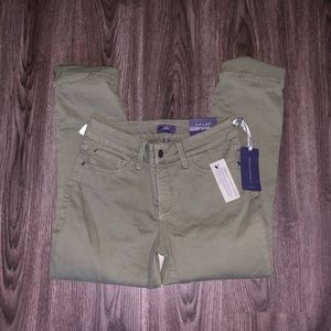 NYDJ Army Green Ankle Jeans 0 slimming fit J2-25